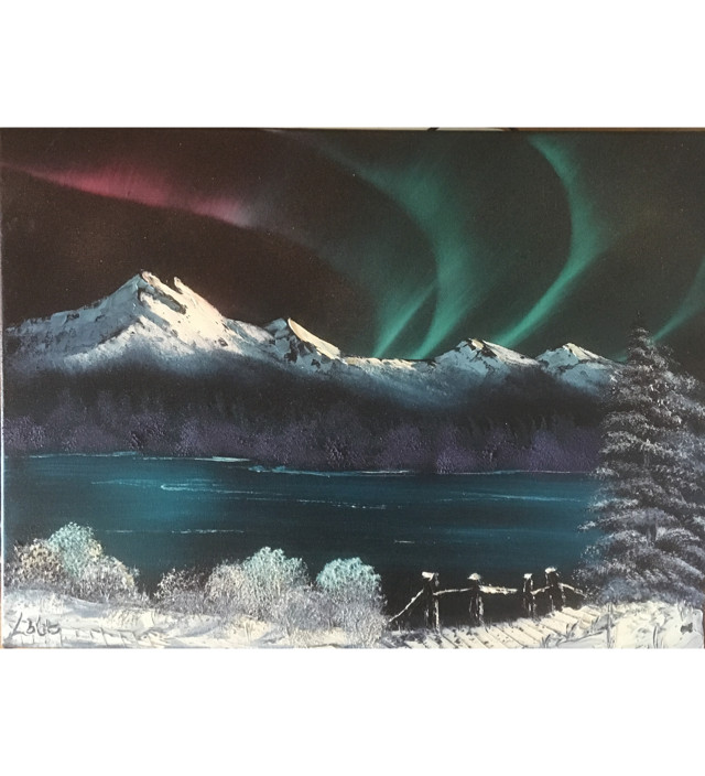 Norther Lights over the Lake
