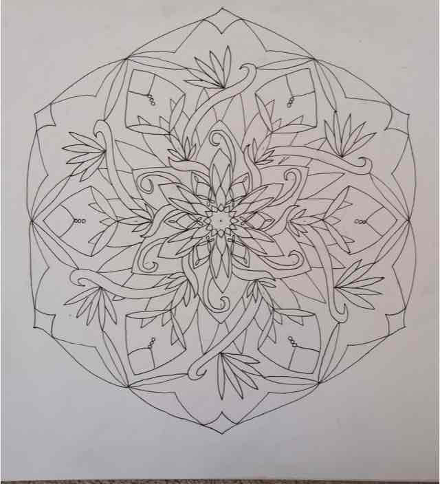 Free Hand Mandala ink orginals
