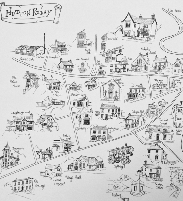 Hutton Rudby sketch map