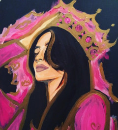 Kylie Jenner painting